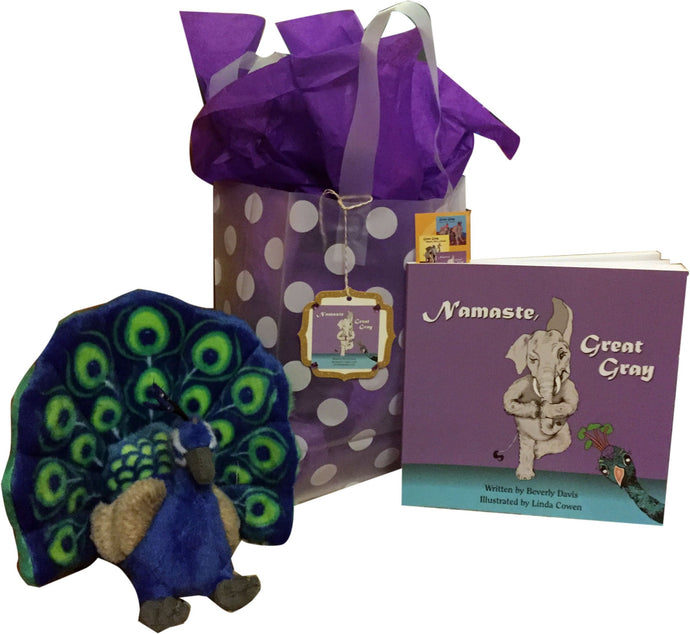 Special Holiday Namaste Great Gray Gift Bag