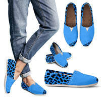 Blue Animal Print Women's Casual Shoes