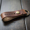 Leather Keychain - English Tan