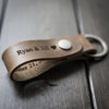 Leather Keychain - Driftwood