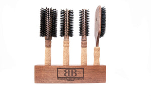 Bristle Brushes + Wooden Block Set (4 Brushes) - Set A