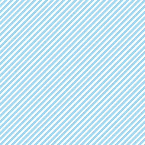 Candy Stripe - Sky Blue - Sweet Shoppe - Andover