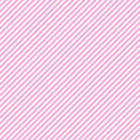 Candy Stripe - Unicorn Pink - Sweet Shoppe - Andover