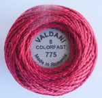 Valdani Size 8 Perle Cotton - Color 775 Backyard Turkey Red