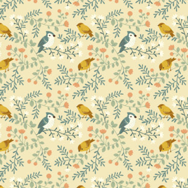 The Best of Teagan White - Birds and Branches - Cream - Birch