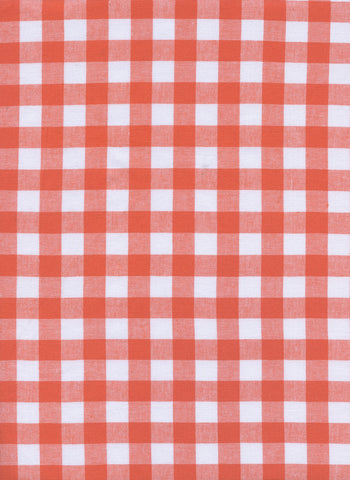 Cotton and Steel - Checkers Coral