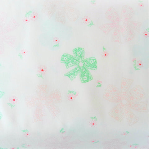 Lace Ribbon - Cream with Green and Pink - Atsuko Matsuyama - Yuwa