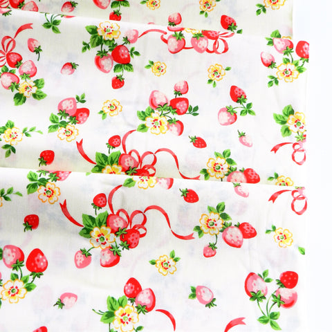 Strawberry Bouquet - Cream - Atsuko Matsuyama - 30's Collection - Yuwa