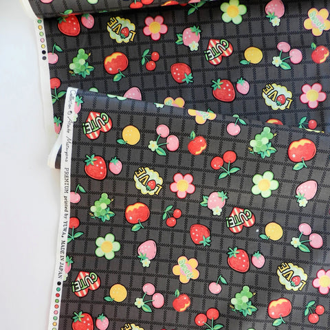 Fruit Patch - Black - 30's Collection - Atsuko Matsuyama - Yuwa