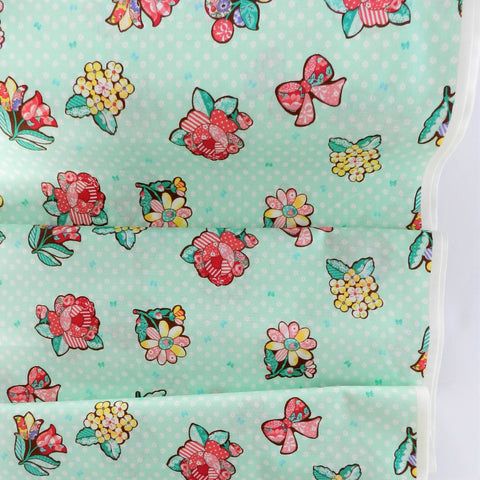 Flower Patch - Mint - 30's Collection - Atsuko Matsuyama - Yuwa