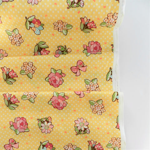 Flower Patch - Yellow - 30's Collection - Atsuko Matsuyama - Yuwa