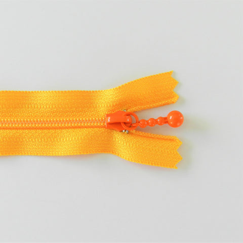 Pearl Drop Zipper - Brights - School Bus Yellow with Orange Pull
