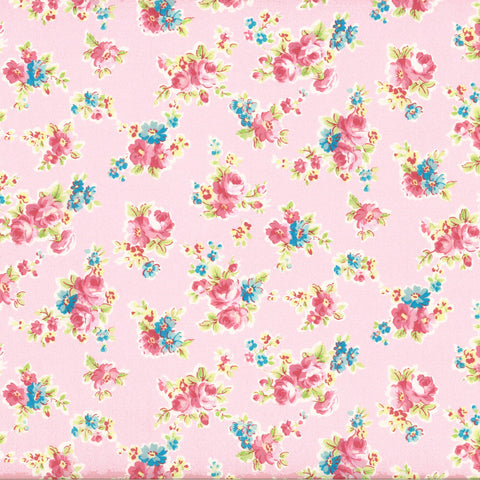 Antique Flower - Floral Spray - Pink - Lecien