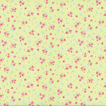 Antique Flower - Roses and Dots - Green - Lecien