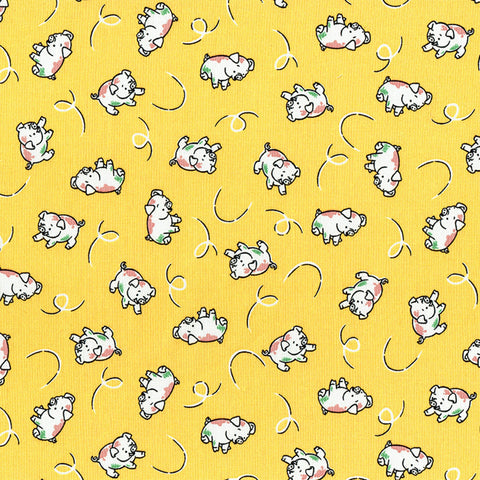 Retro 30's Child Smile Spring 2018 - Pigs - Yellow- Lecien
