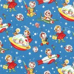 Retro Rocket Rascals - Multi - Michael Miller