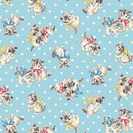 Little Kittens - Dots and Kittens - Blue - Quilt Gate