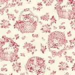 Little Kittens - Kitten Toile - Off White and Red - Quilt Gate
