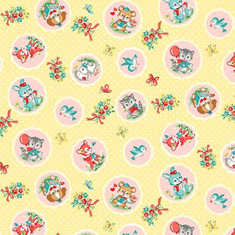 Dear Little World - Kawaii Friends - Kawaii Scallop Friends - Yellow - Quilt Gate