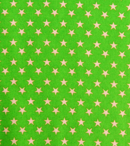 Green with Pink Stars - Quilt Gate