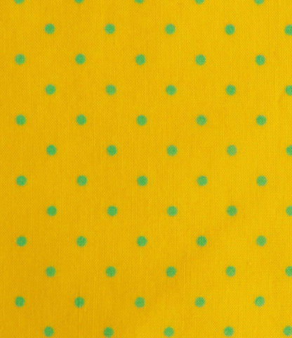 Yellow with Turquoise Small Dot - Quilt Gate