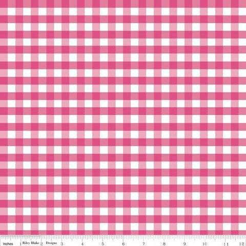 Medium Gingham - Hot Pink - Riley Blake