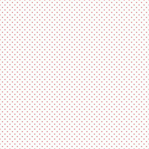 Swiss Dot - Coral Dot on White - Riley Blake