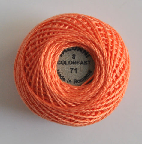 Valdani Size 8 Perle Cotton - Color 71 Peach Rose