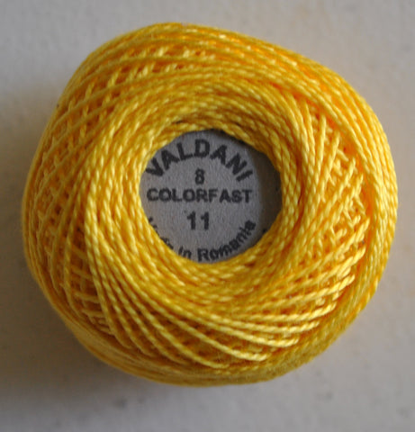 Valdani Size 8 Perle Cotton - Color 11 Sunflower