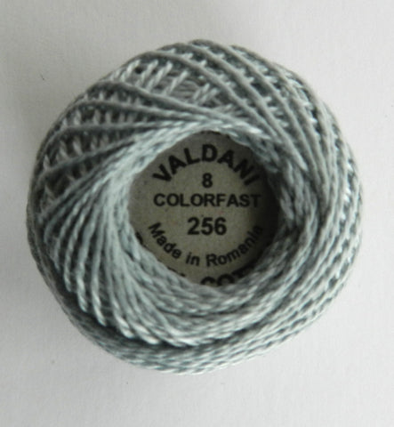 Valdani Size 8 Perle Cotton - Color 256 Icy Blue