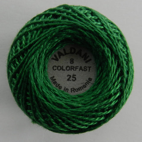 Valdani Size 8 Perle Cotton - Color 25 Christmas Green