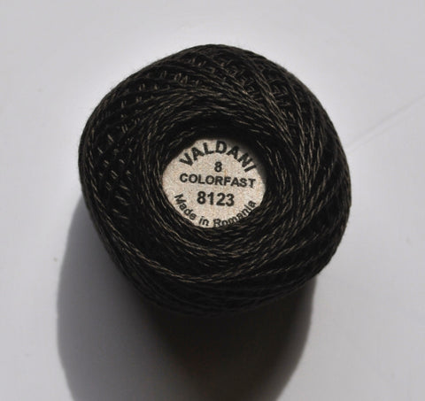 Valdani Size 8 Perle Cotton - Color 8123 Brown Black