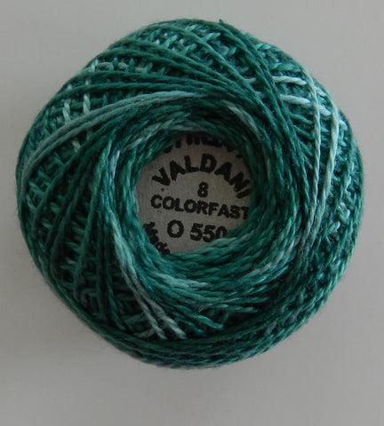 Valdani Size 8 Perle Cotton - Color 0550 Caribbean Blue