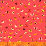 Heather Ross Anniversary Collection - Coral Butterflies - Heather Ross - Windham