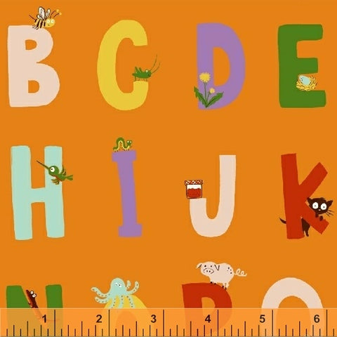 Alphabet - Orange - Kinder-  Heather Ross - Windham