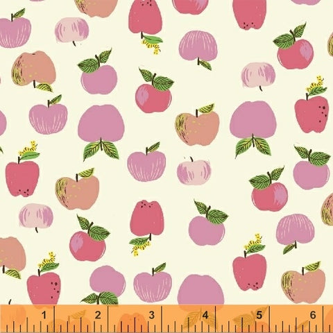 Apples - Pink - Kinder-  Heather Ross - Windham