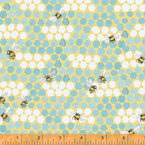 My Imagination - Bees - Aqua - Clare Therese Gray - Windham