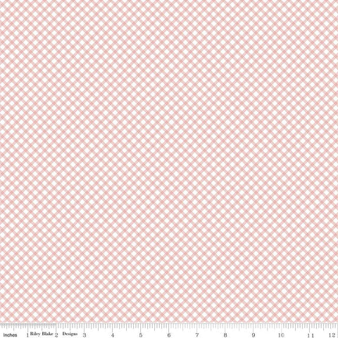 Bunnies Gingham Pink - Penny Rose