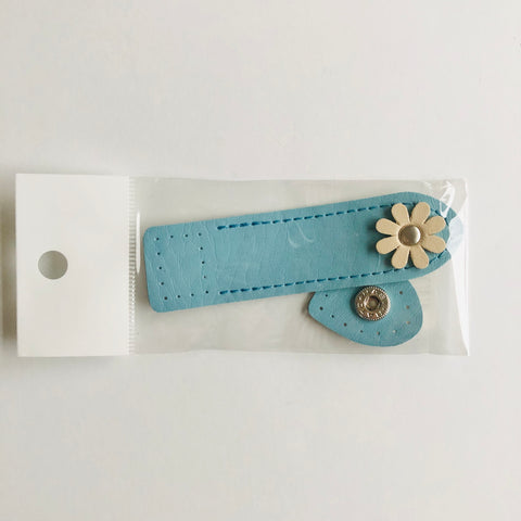 Flower Closure (Sew on) - Aqua - Inazuma