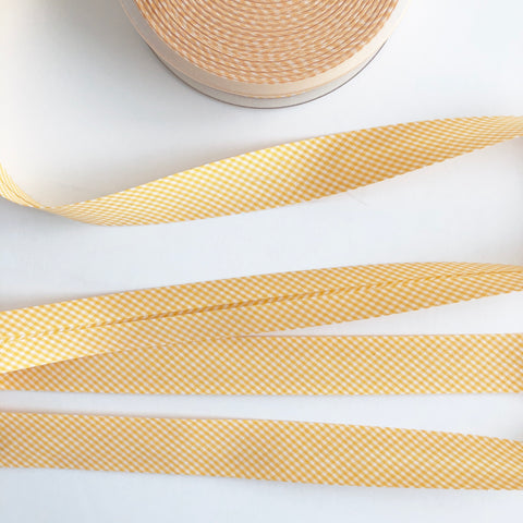 Bias Binding - Yellow Gingham  - La Stephanoise