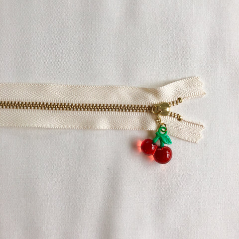 Cherry Fruit Zipper - Clear Red