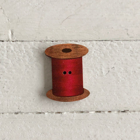 Atelier Bonheur du jour - Buttons - Spool of Thread  -Red
