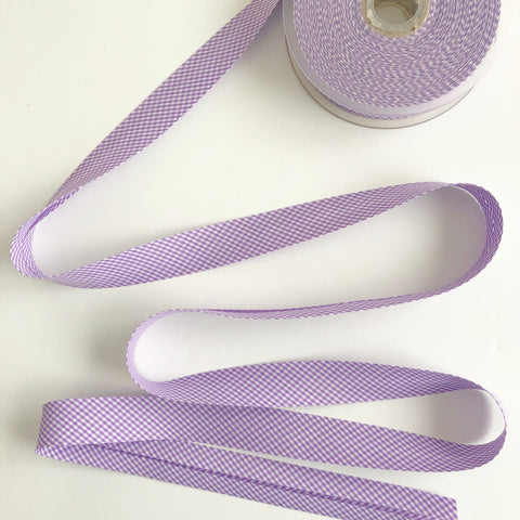 Bias Binding - Violet Gingham  - La Stephanoise