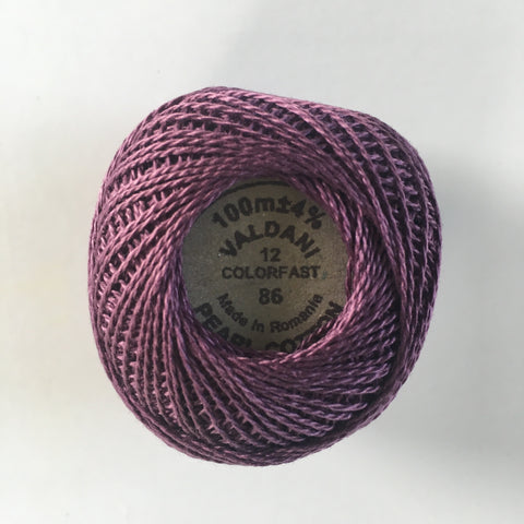 Valdani Size 12 Perle Cotton - Color 86 Rich Plum