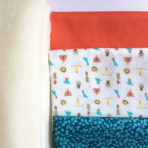Tiny Circus Double Gauze and Lawn Baby Quilt Kit