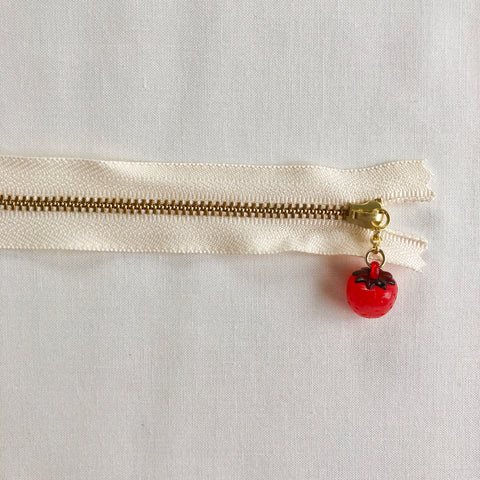 Strawberry Fruit Zipper - Antique Red