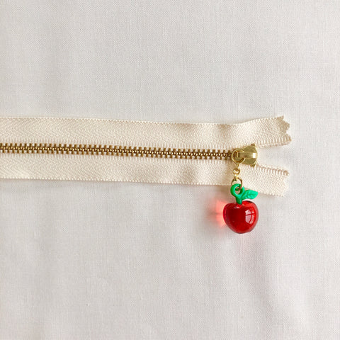 Apple Fruit Zipper - Clear Red
