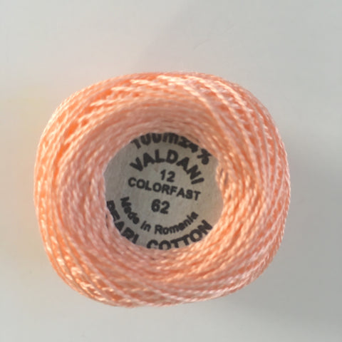 Valdani Size 12 Perle Cotton - Color 62 Peach Rose Light