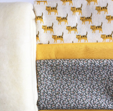 Lion and Tiger Double Gauze and Lawn Quilt Kit