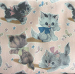50's Kitty- Baby Pink -50's Vintage Wrap Collection - Yuwa